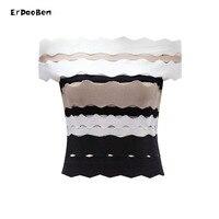 ERDAOBEN Women rayon Slash Neck Bandage Sleeveless Tank Top Sexy Off Shoulder Women Crop Top for party H4214