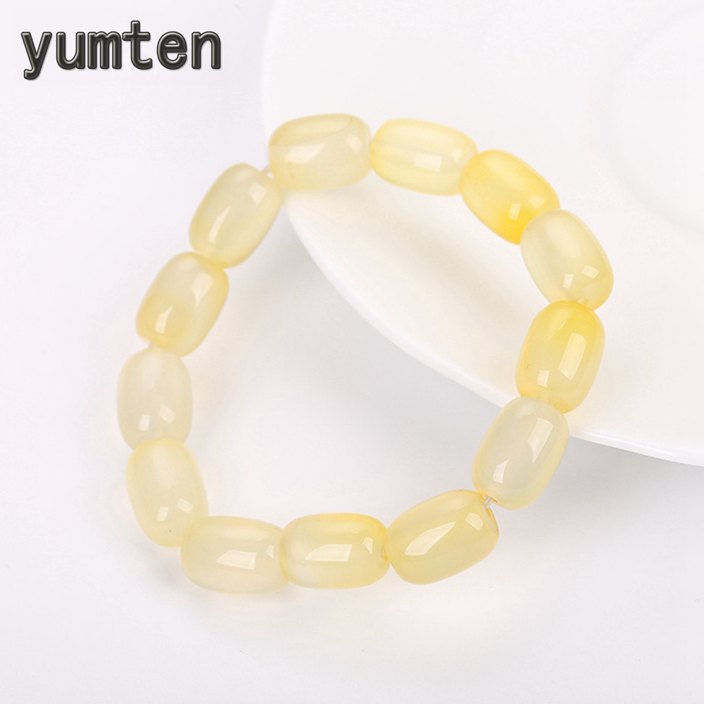 Color : Yellow Reiki Crystal Products Citrine Bracelet 6 mm Round Bead Reiki Healing Crystal Bracelet for Unisex
