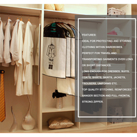 Fad Clothes Hanging Garment Suit Coat Dust Cover Protector Hanging Suit Storage Bag Dirt Protector
