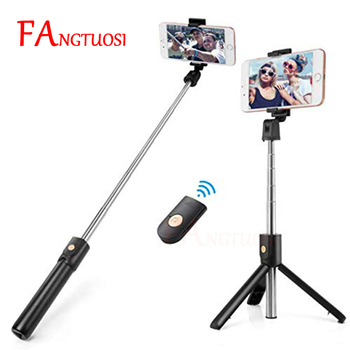 FANGTUOSI 3 in 1 Wireless bluetooth Selfie Stick Mini Tripod Extendable Monopod Universal Pau De Palo For iPhone XR X 7 6s Plus