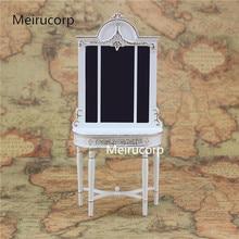 цена на 1/12 scale doll house miniature furniture white Handmade gilt Porch Ark