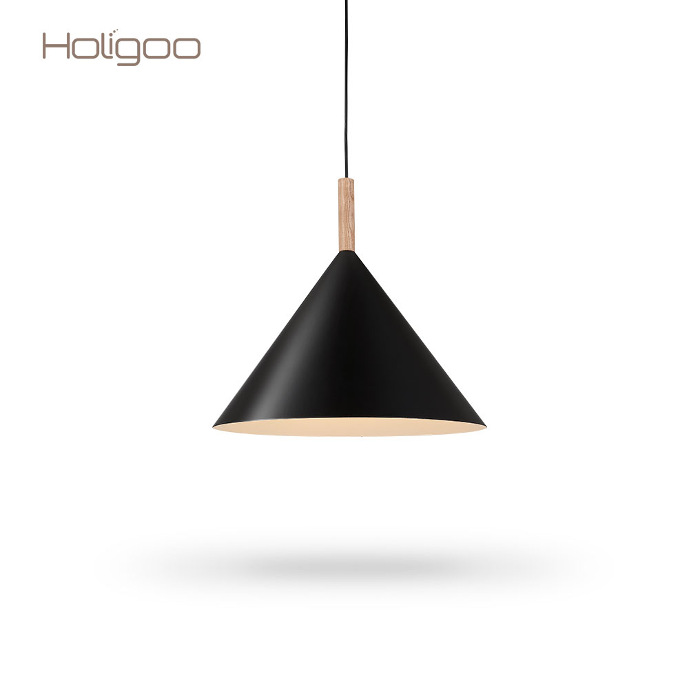 Holigoo Pendant Lights Dining Room Modern Colorful Pendant Lamp Restaurant Coffee Bedroom Lighting Iron+Solid Wood E27 Holder a1 master bedroom living room lamp crystal pendant lights dining room lamp european style dual use fashion pendant lamps