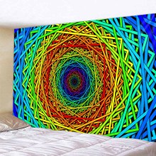 Hot Sales 3D Rotating Geometric Box Background Tapestry Colerful Wall Handing Decoration