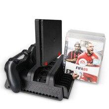 Оригинальная вертикальная подставка с охлаждающим вентилятором контроллер зарядная станция 2 Порты и разъёмы USB концентратор диски для хранения Playstation 4/PS4