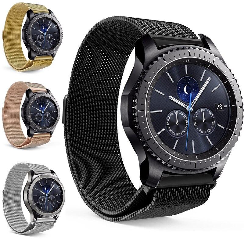Mesh Milanese Schleife Uhrenarmbänder 16mm 18mm 20mm 22mm 24mm Silber Rose Gold Schwarz Armband Handgelenk uhr Band Strap Magnetische Verschluss