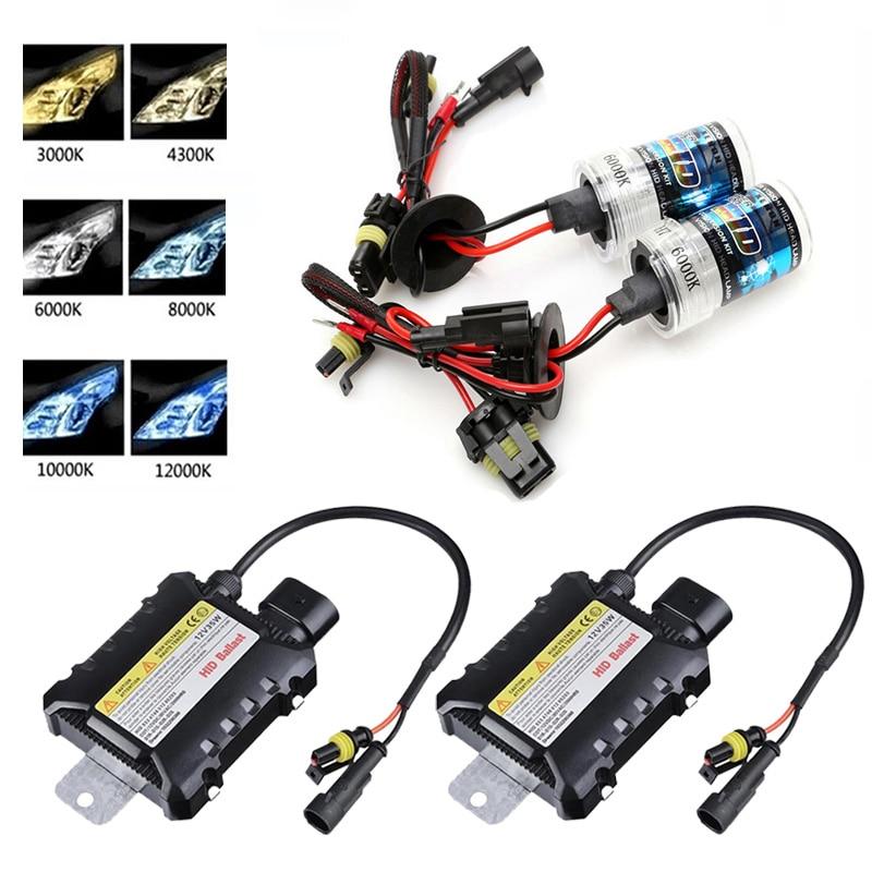 55W Xenon HID Headlight Bulb Slim Kit H1 H3 H4 H7 H10 H11 H13 9005 9006 880 9007
