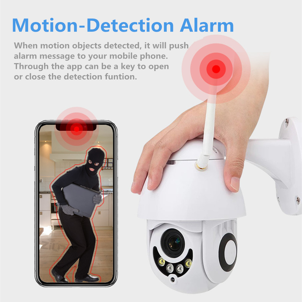 Image 5 - 1080P Wifi IP Camera Outdoor Two Way Audio PTZ 5X Optical Zoom Night Vision IR 60M Wireless Security Speed Dome Camera P2P-in Surveillance Cameras from Security & Protection