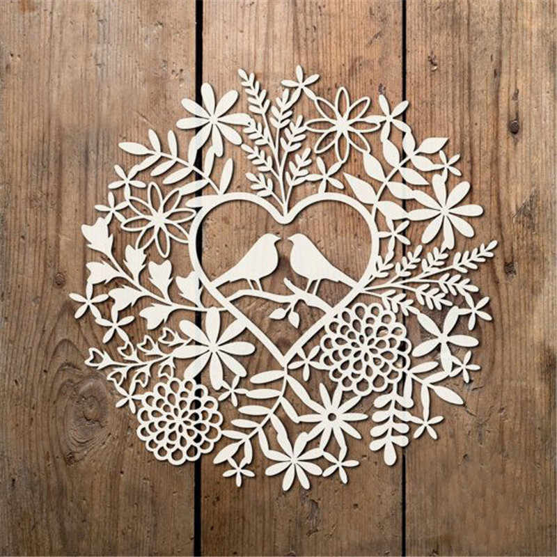 GJCrafts Flowers With Birds Metal Cutting Dies for Scrapbooking Die Cut Stitch Craft Dies Troqueles New Die for 2019 Stencil