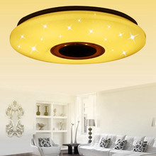 Modern Led Lamp Light Rgb Dimmable 36W 60W App Remote Control Bluetooth Music LED Ceiling