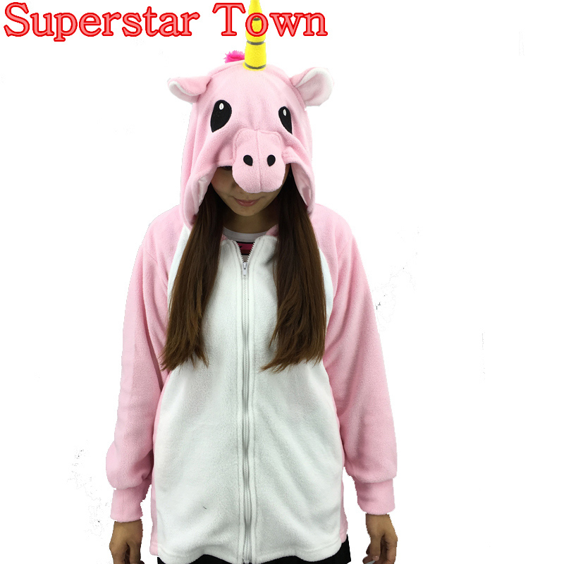 Unicorn Umbreon Women Hoodies Cosplay Costume Winter Jacket Anime Sweatshirt Zip Hoodie  ...