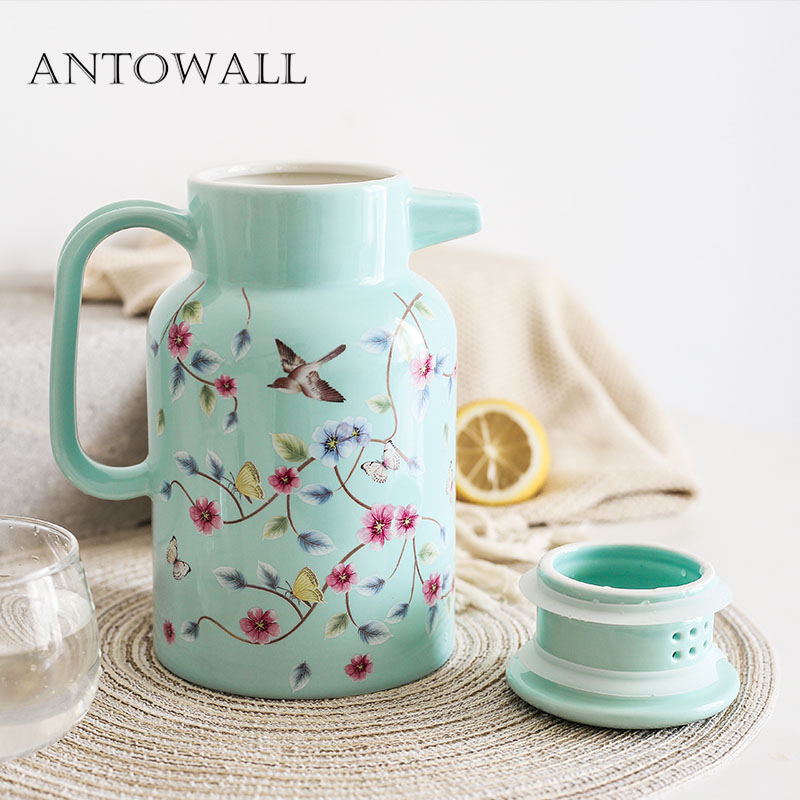 ANTOWALL céramique grande capacité eau froide bouteille cruche maison résistant à la chaleur haute température japonais après-midi théière bouilloire