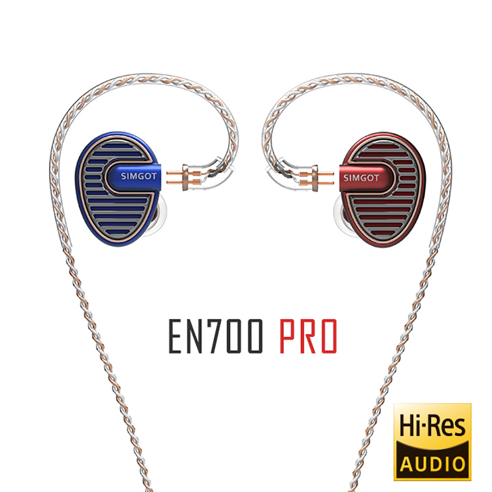 SIMGOT EN700 PRO Upgraded Hi-Res Dynamic Bass HiFi Music Monitor DJ Earphone In-Ear Earbud With Detachabel Cable Fone De Oudivo