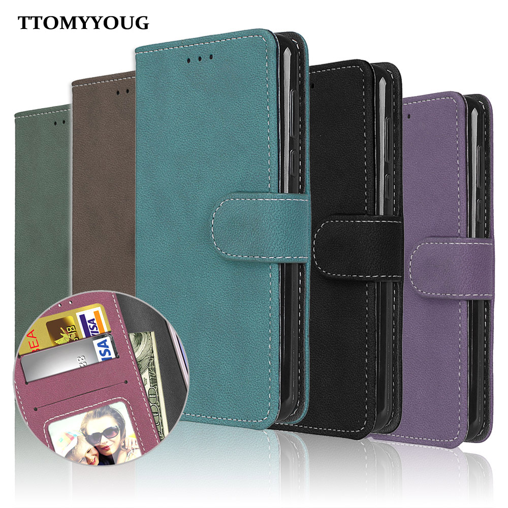 for <font><b>Nokia</b></font> <font><b>2</b></font> TA-<font><b>1029</b></font> TA-1035 Case Cover Vintage Matte Plain PU Leather Silicone Flip Phone Bag Wallet Stand Hold for Nokia2 Cases image