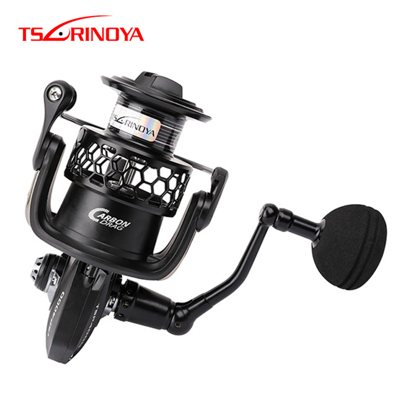 TSURINOYA TSP4000/50000 Spinning Reel 12BB/5,2: 1 Max Drag 12 kg Voll Metall Jig Rollen Salzwasser Sea Fishing Tackle Moulinet Peche
