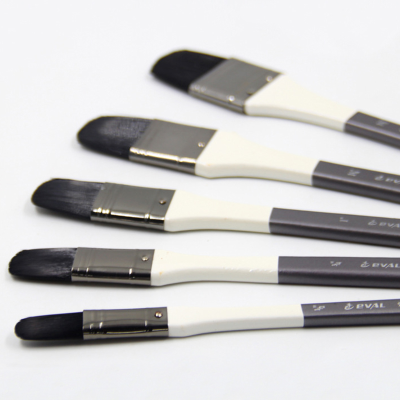 Image 2 - 5pcs/Set High Quality mew paint brush set nylon black row oil paint brush acrylic paints wall painting Hazel shape paintbrush-in Paint Brushes from Office & School Supplies