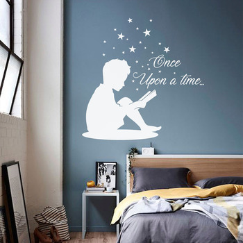 Boy Reading Book Wall Decal For Kids Rooms Lovely Quote Vinyl Stickers Teen Room Decor Books Decals Childrens Decoration Quote Wall Stickers Quotes Stickers For Walls From Joystickers 12 66 Dhgate Com