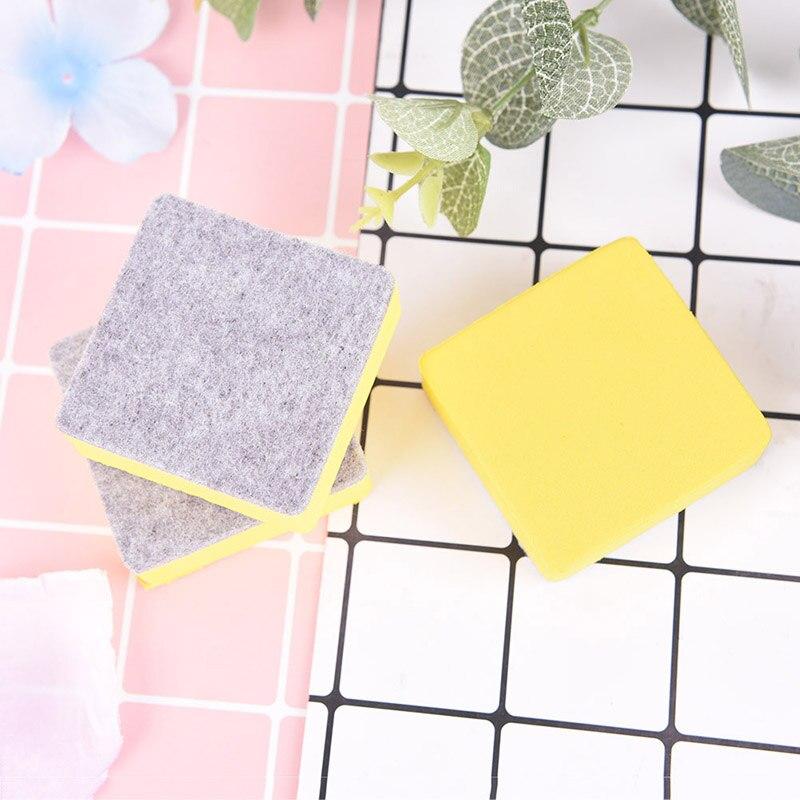 2pcs/lot Blackboard Eraser Yellow Blackboard Whiteboard Cleaner Dry Marker Pen Foam Eraser Chalk Brushs 5.2*5.2*2CM