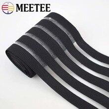 meetee 8meters 5cm/9cm Glitter Transparent Elastic Band Webbing DIY Pants Belt Rubber Sewing Accessories BD305