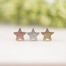 Jisensp 10pcs/lot New Fashion Trendy Glittering Brushed Wholesale Little Star  Studs Earrings E025