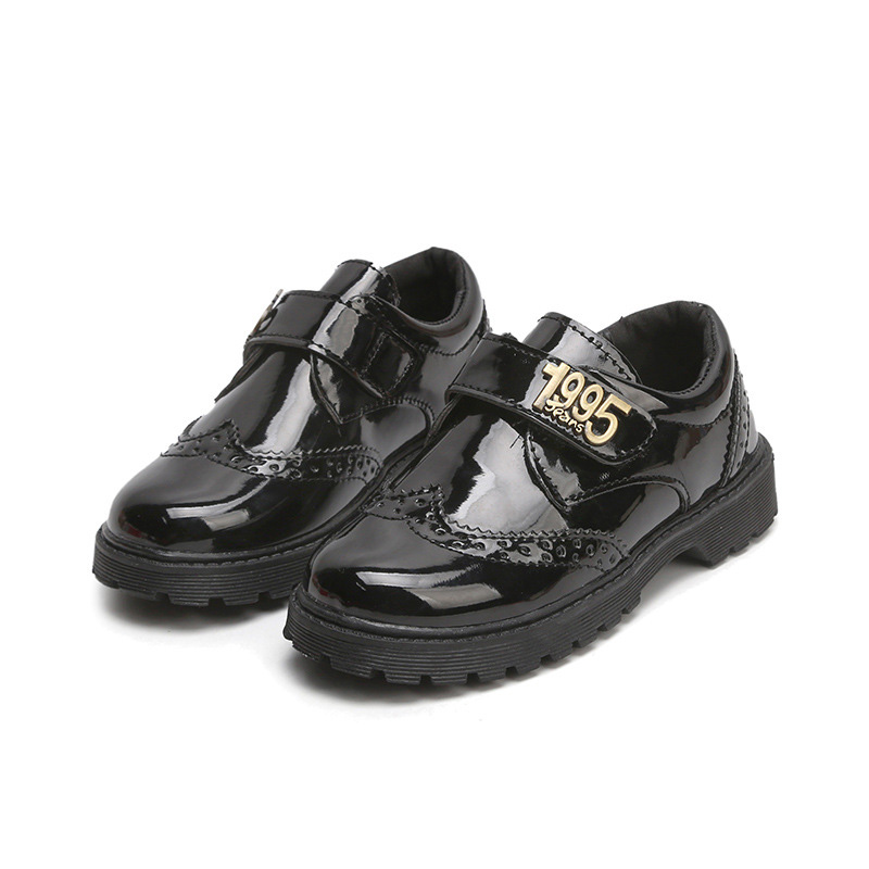 BABAYA Patent Leather Boys Girls Casual Leather Shoes Children Kids School Uniform Shoes ...