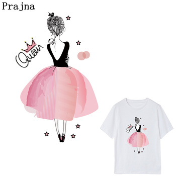 Prajna Ballet Queen Heat Transfer Easy Print Applique Crown Iron On Transfer For Clothes Dress Thermal Transfer DIY Sticker D diy crop top