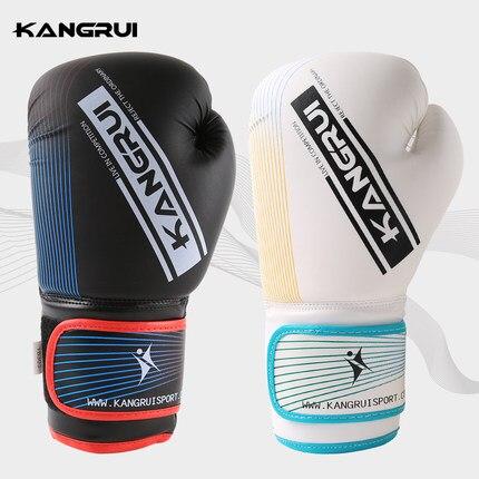 Blanc 10 oz gants de boxe mma kick boxe entraînement muay thai hommes gants de fitness pour adultes enfants livraison gratuite