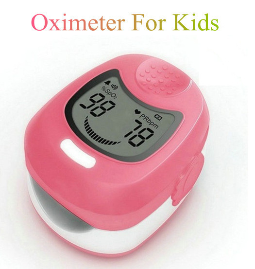 Pediatric oximeter CMS 50QA Child Fingertip Finger Pulse Oximeter Blood Oxygen SpO2 Monitor for Kids Three Colors Choice