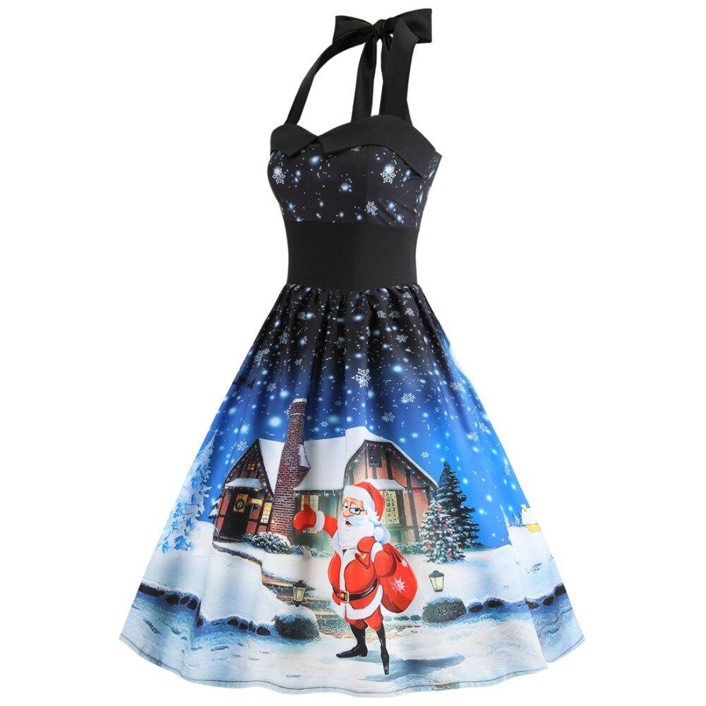 5b3febcfd63 ... S~3XL Women Dress New Sleeveless Christmas Dresses Vintage Tunic  Elegant Party Dress costume Plus ...