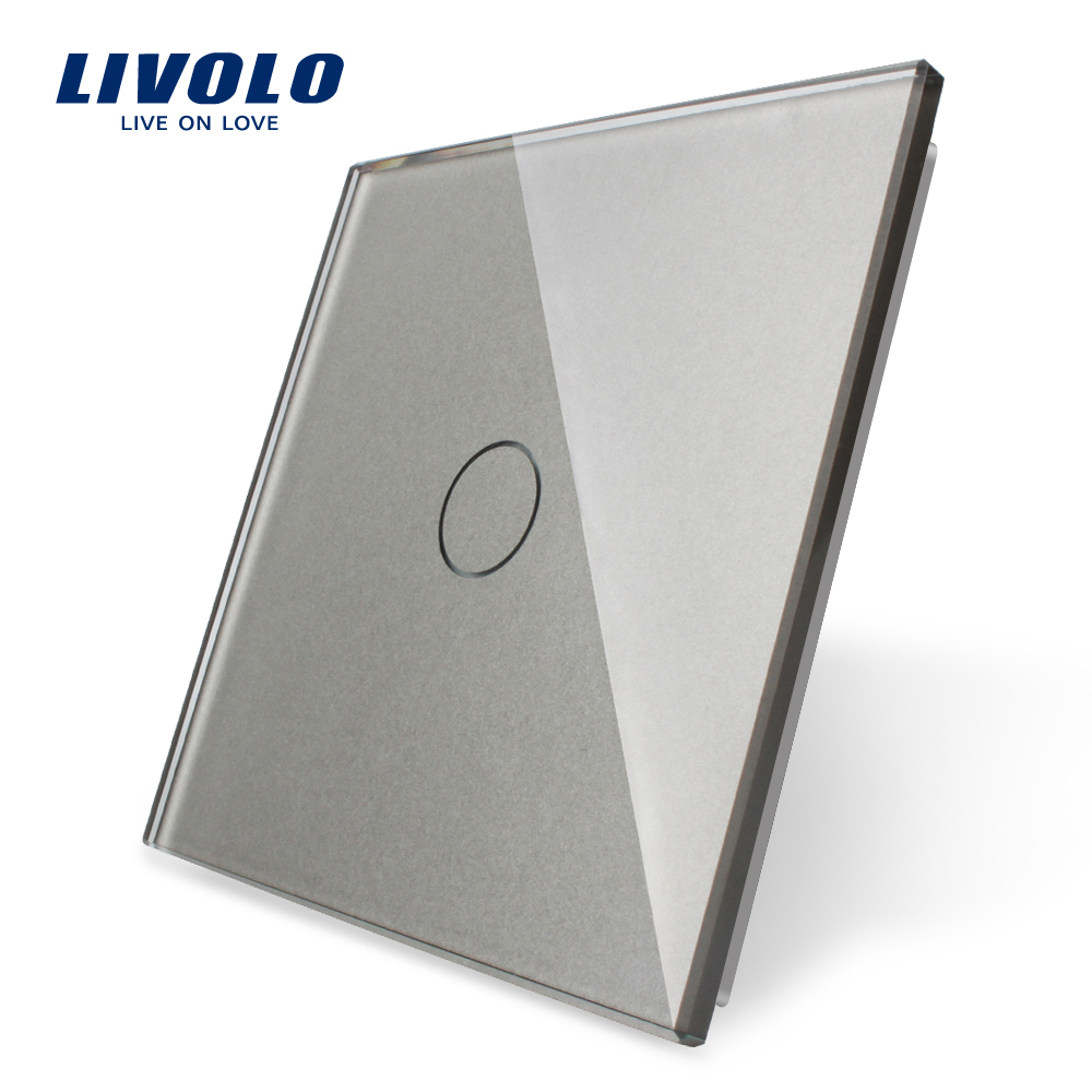 Livolo Luxury White Pearl Crystal Glass,EU Standard,Single Glass Panel For 1 Gang Touch Switch,VL-C7-C1-11 (4 Colors),no Switch