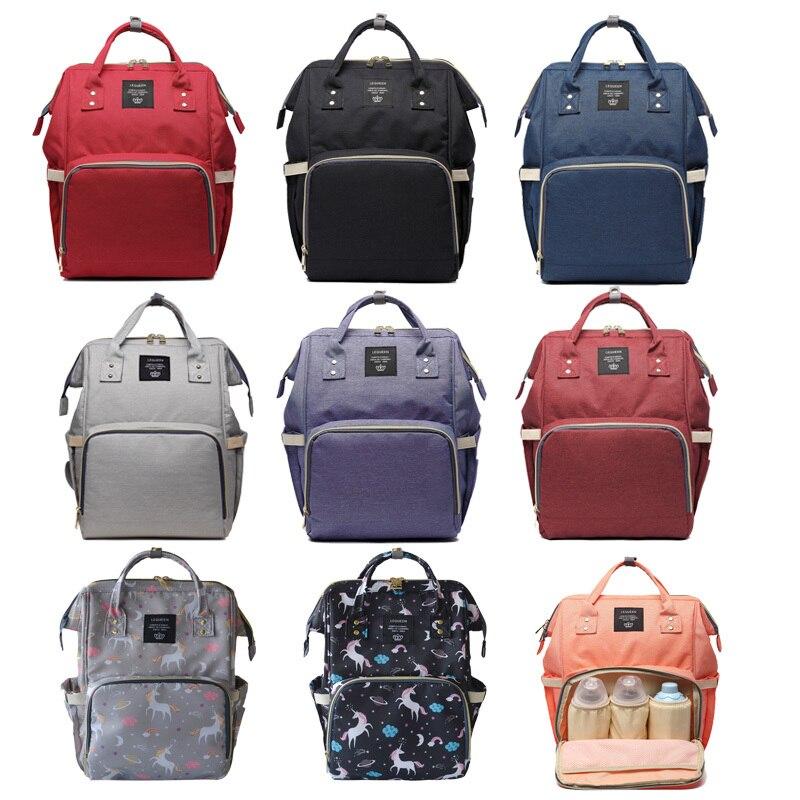 Bolsa de pañales, mochila de moda de momia maternidad Bolsa para madre marca mamá mochila pañal bolsas de cambio Bolsa Maternidade