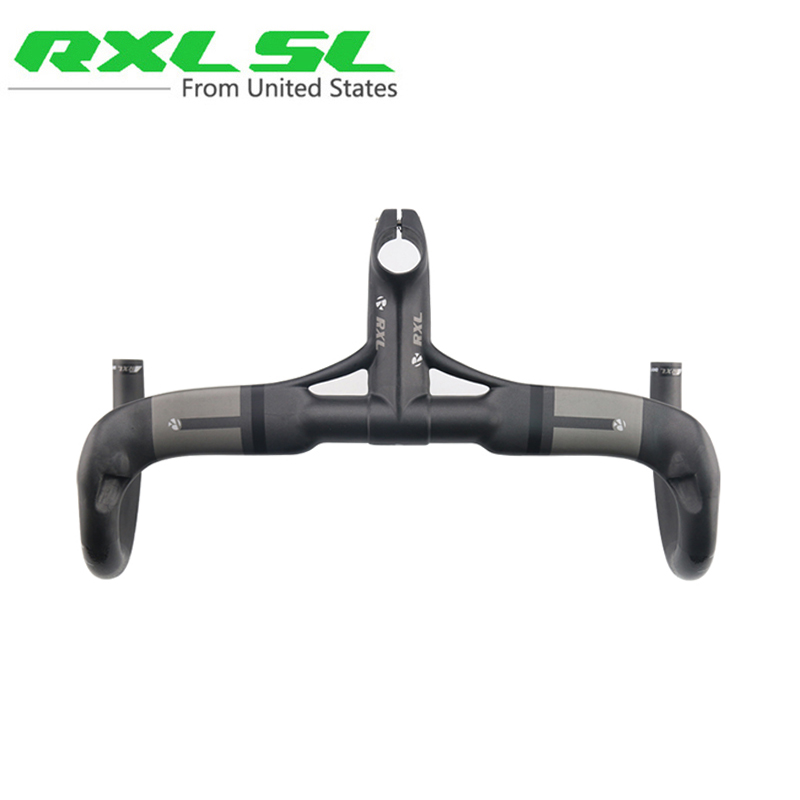 RXL SL UD Matte Carbon Handlebar Road Integrated And Stem 28.6mm Breaking Cycling Winding Carbon Road Bicycle Handlebars toseek full carbon fibre bicycle road handlebar integrated bike handlebar stem cycling bent bar ud matte gloss balck logo
