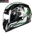 Ls2 de la motocicleta casco de la cara llena del casco de la calle motobike motocicleta cacapete kask casque casco cascos de carreras de moto 358c hombres