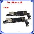 Para o iphone 4s placa principal original 32 gb desbloqueado motherboard full function smart phone placa lógica placa de circuitos de bom trabalho