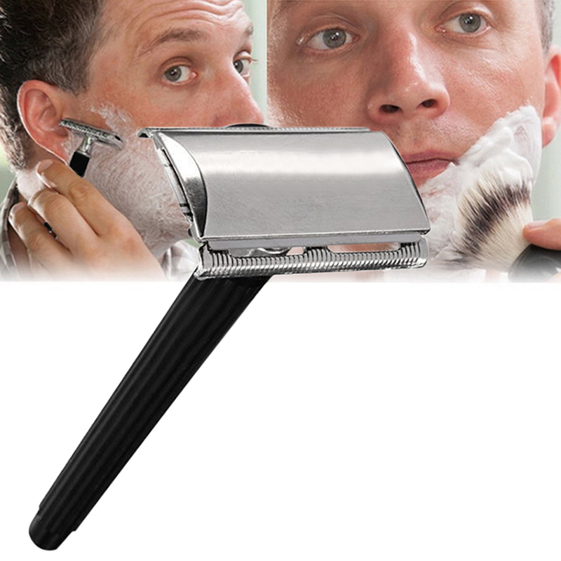 Traditional Men Hand Double Edge Safety Razor Classic Stainless Steel Shaving Hair Blade Razor Manual Hair Removal Shaver It