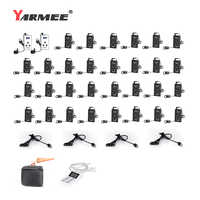 YARMEE YT100 Updated Version YT200 Wireless Tour Guide System Whisper Audio Tour Guide Earphone And Mic Translation System