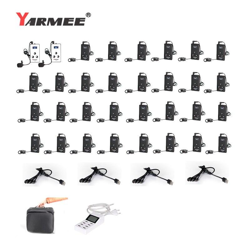 YARMEE YT100 versión actualizada YT200 sistema de guía turística inalámbrico Whisper Audio guía de viaje auriculares y sistema de traducción Mic