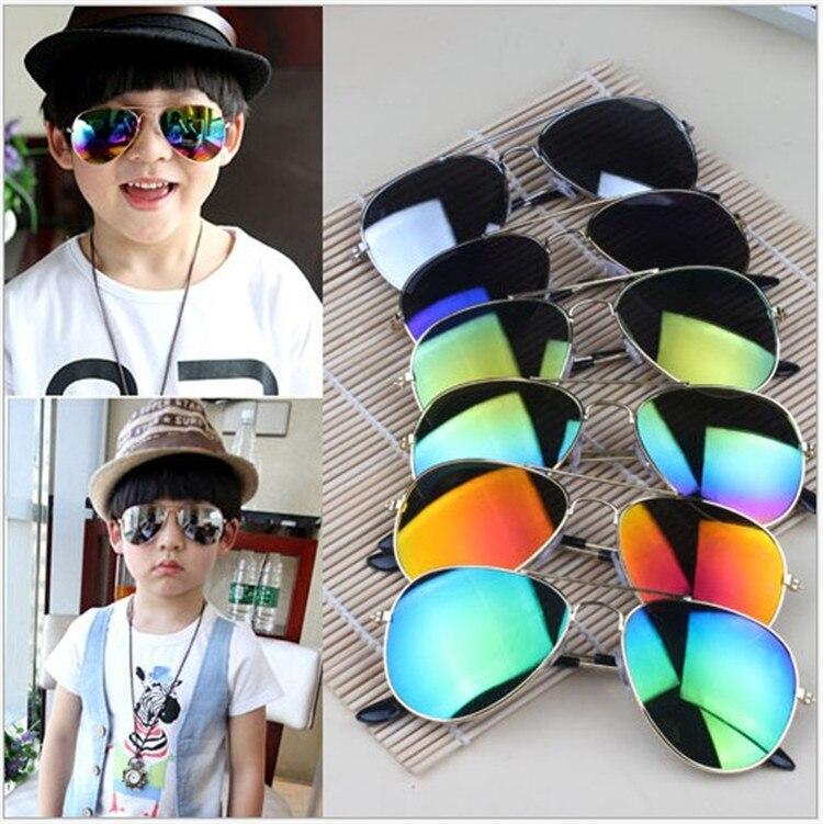 CHUN L31 Brand Designer Sun Glasses for Children Cool Mirror Reflective Metal Frame Kids Sunglasses Children's Glasses UV400