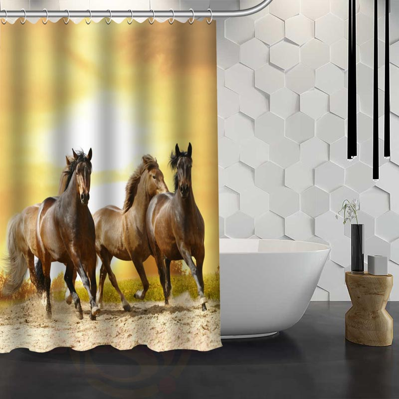 Custom Pentium Of The Horse Shower Curtain Waterproof Fabric Shower Curtain  For Bathroom WJY1.17 In Shower Curtains From Home U0026 Garden On  Aliexpress.com ...