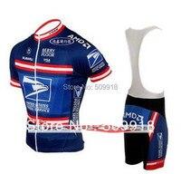 Одежда для велоспорта США Почтовая команда Велоспорт Джерси наборы велосипедная одежда ropa ciclismo синий