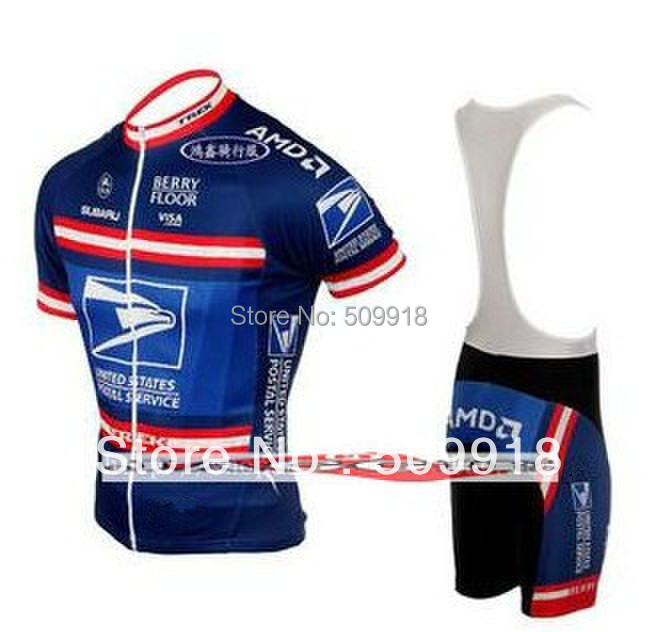 Cycling clothing United States Postal team Cycling Jersey Sets Bike Clothing ropa ciclismo bike clothes ropa ciclismo Blue
