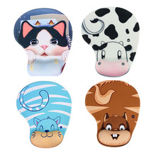 Wholesale! Practical Lovely Animal Skid Resistance Memory Foam Comfort Wrist Rest Support Mouse Pad Mice Pad Gaming Mousepad