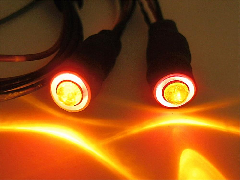 1 Set 2 Leds Angel Eyes & Demon Eyes LED Headlight Back Light 4.2v-6v input With On-Off Switch for 1:10 Rc Car Tamiya