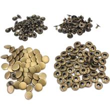 купить 50pcs 12mm Vintage Bronze Metal Snap Press Fasteners No Sewing Buttons Studs Botoes Leather Craft Clothes Bags Accessories New дешево
