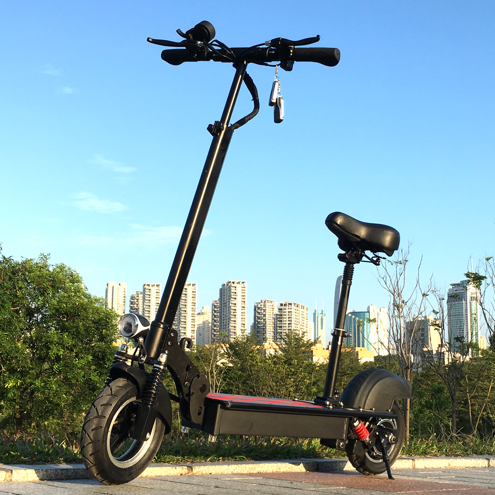 Flj 10 Inch Electric Scooter With Seat Foldable E Bike Bicycly 500w Kick Motor