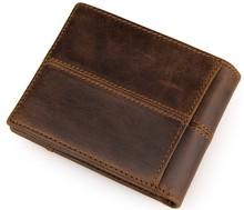 Fashion Joint Short Style Dermis Wallet Men Leather Zipper Money Card Bags