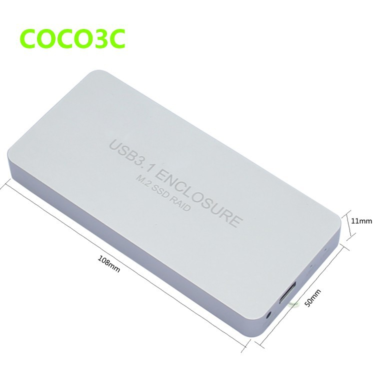 usb 3.1 type-c to ngff ssd enclosure