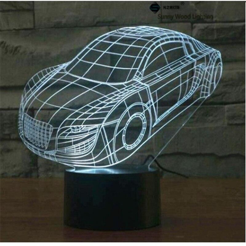 Родстер сенсорный выключатель LED 3D, визуальную иллюзию 7 видов цветов Изменение 5 В USB для ноутбука, Хэллоуин, рождество мультфильм игрушки ла...