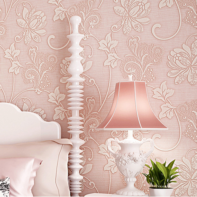NEW Modern Fashion Non woven Thick 3D Wallpapers Exquisite Embossed ...