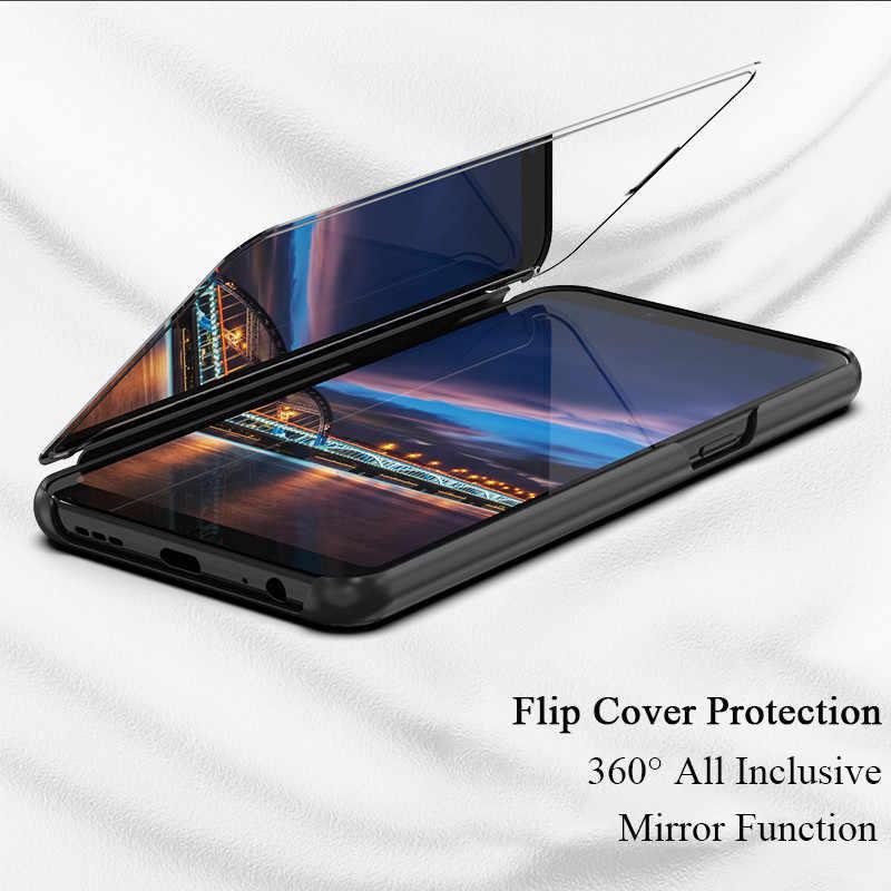 مرآة Mi9 اللمس فليب حالة ل Xiaomi مزيج 3 2 F1 9 9se 8 8se 8pro 8 لايت 5x 6x الوقوف غطاء كامل ل Redmi S2 6A 5 ملاحظة 4X5 6 برو