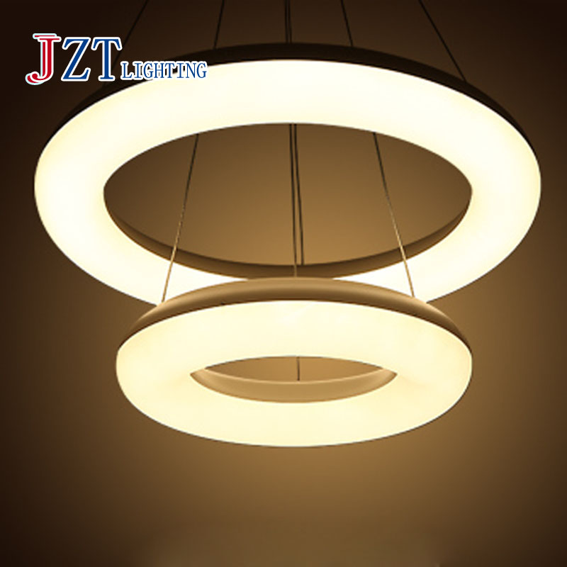 Z modern Led restaurant bar line celling light acrylic chandelier creative minimalist lamp hanging round the Office pendant lamp